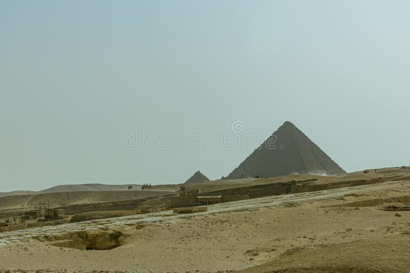Cheops, Kefren, Micerino pyramids of Giza. Egypt. Archeology, wonder, colossal, grandiose, stone, el, cairo, africa, circumscription, countries, country, jaunt stock photos