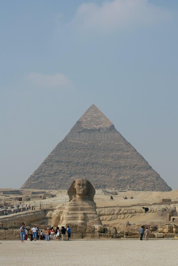 chephren金字塔s狮身人面象 库存图片