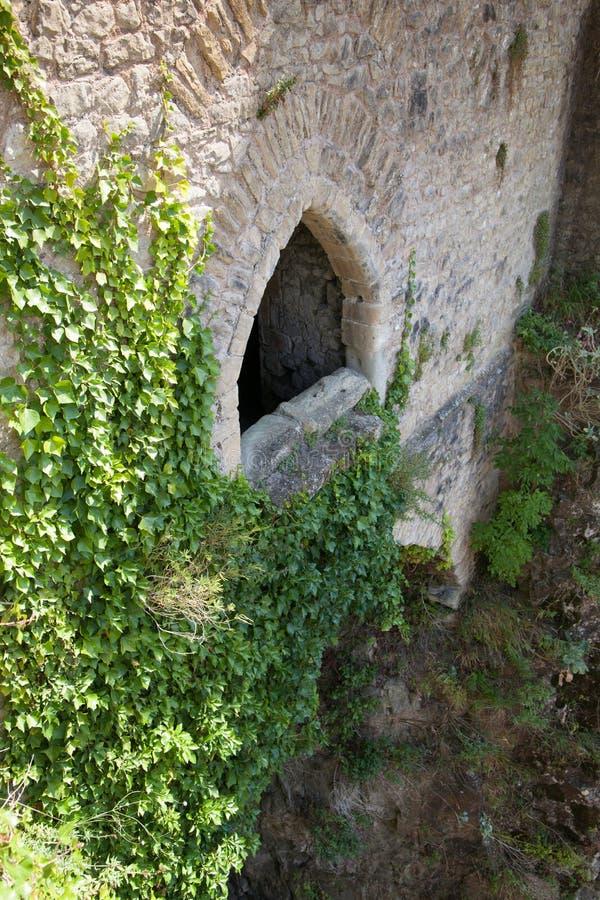 Chepstow castel废墟,基础, 1067-1188 免版税库存照片
