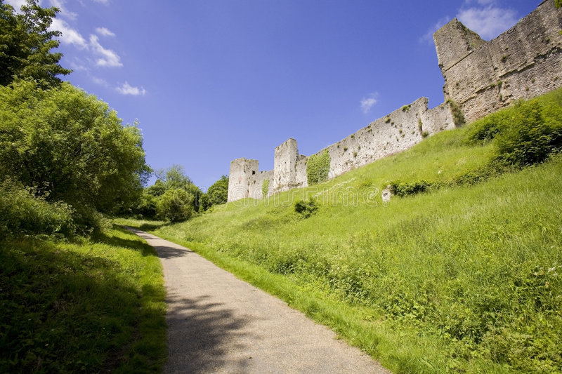 Download Chepstow Castle Monmouthside Wales Stock Image - Image: 1279719
