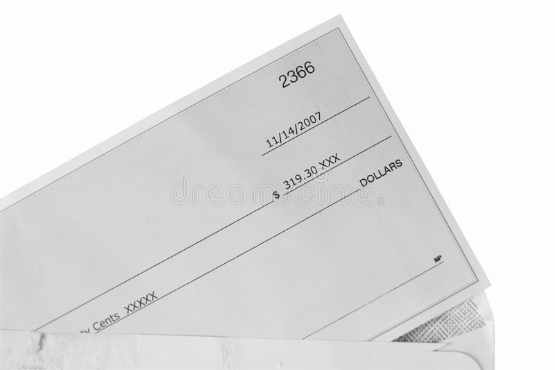 Download Cheque stock photo. Image of envelope, part, finance, postmark - 4457842