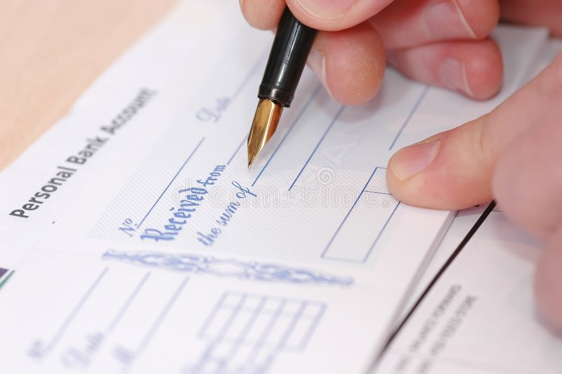 Cheque stock images
