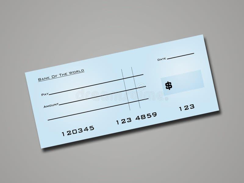 Cheque do banco ilustração stock