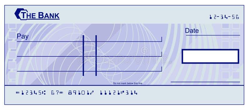 Cheque en blanco stock de ilustración