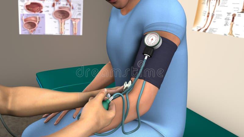 Chequeo de la presión arterial imagenes de archivo