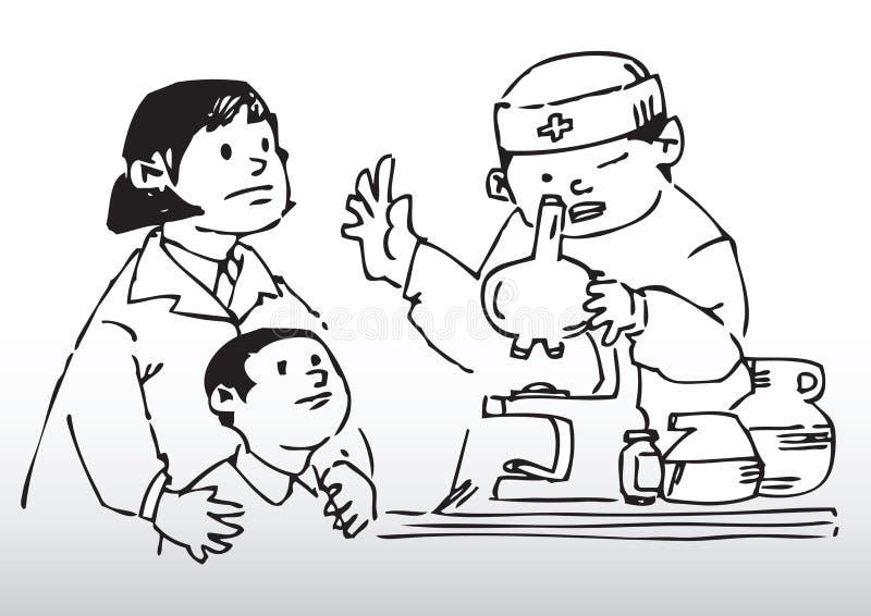 Chequeo de las saludes infantiles ilustración del vector