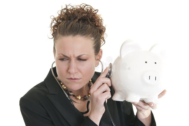 Chequeo financiero foto de archivo libre de regalías