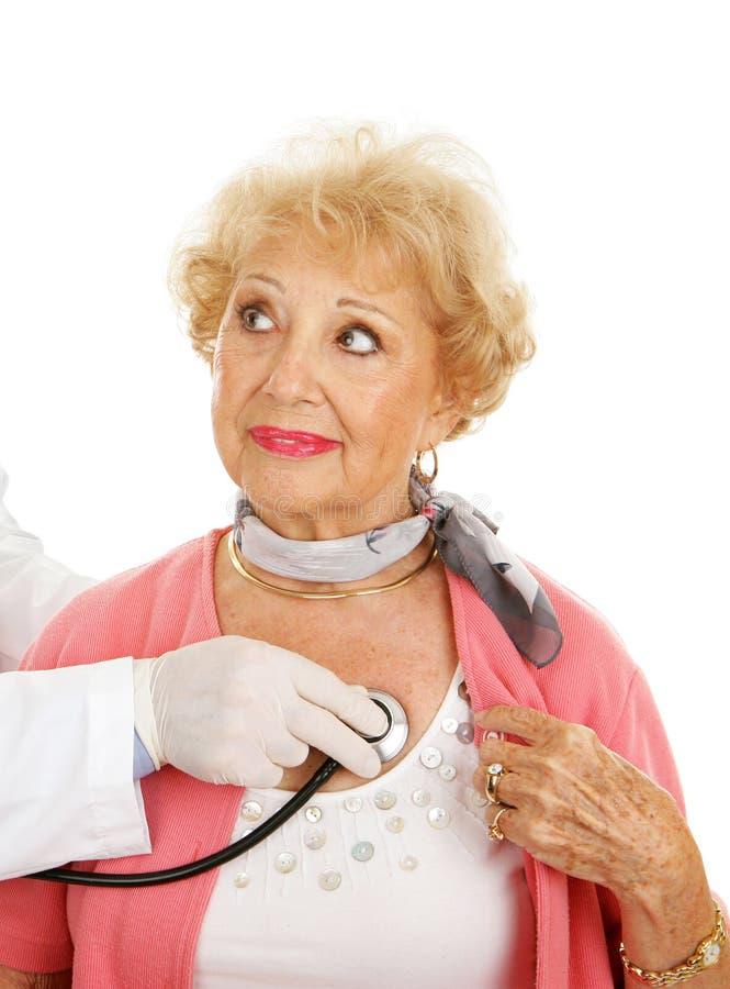 Chequeo médico mayor fotografía de archivo
