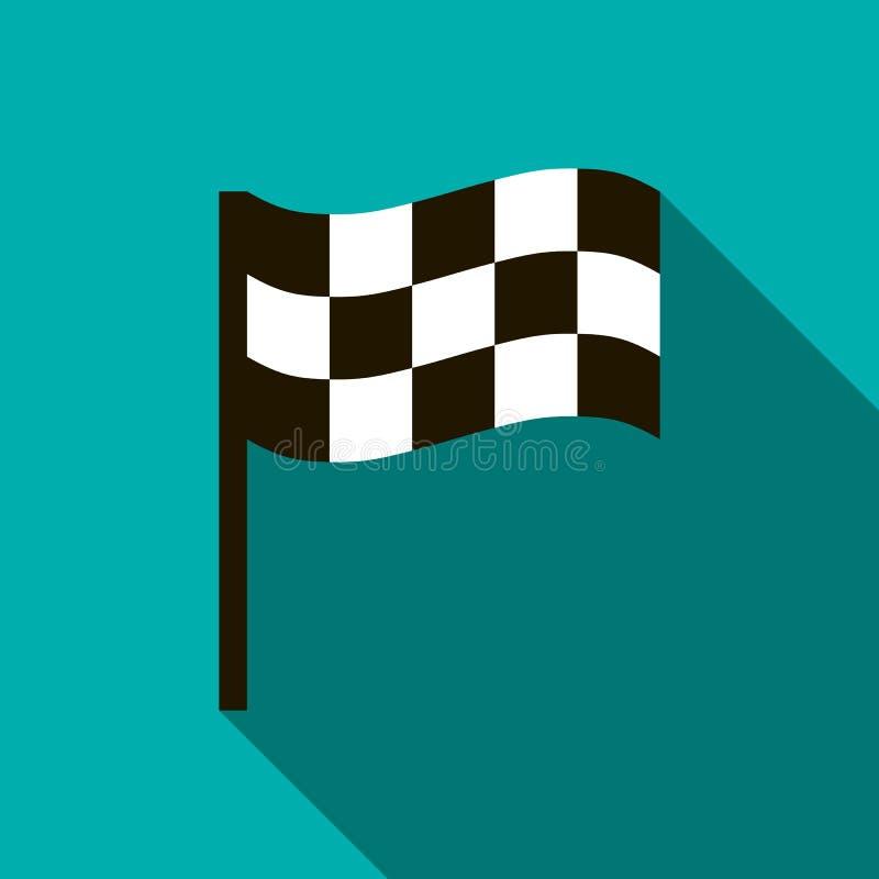 Chequered значок флага, плоский стиль бесплатная иллюстрация