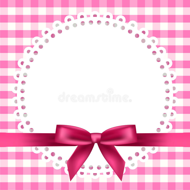 Chequered background with napkin and ribbon. Vector chequered background with napkin and ribbon royalty free illustration