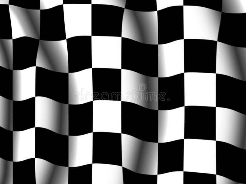 Chequered end-of-race flag stock illustration