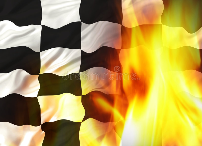 Download Chequered flag stock illustration. Illustration of excite - 1202196
