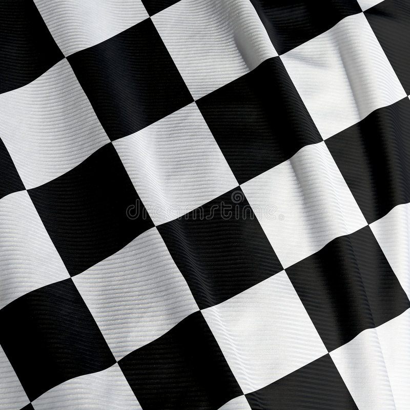 Download Chequered Flag Closeup stock image. Image of waving, finish - 5371167