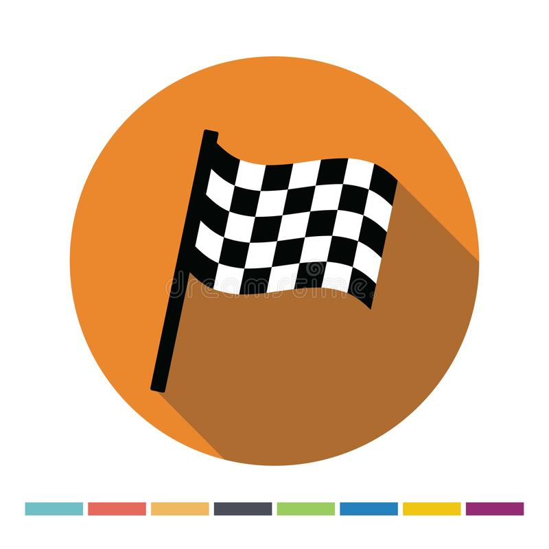 Chequered flag icon. Chequered flag flat web icon. Vector Illustration stock illustration