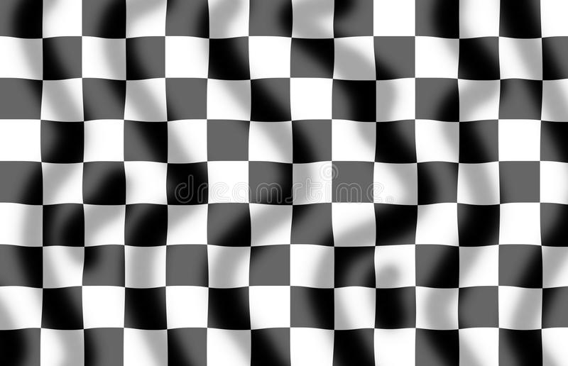 Chequered Flag Slight Ripple royalty free illustration