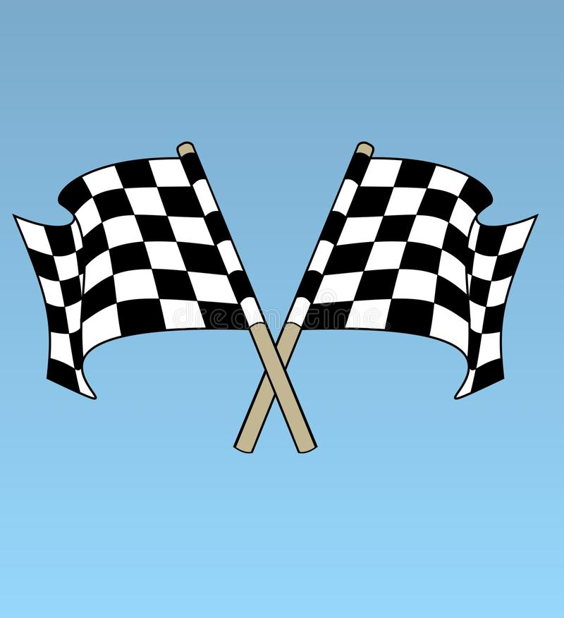 Download Chequered flags stock illustration. Image of check, sport - 14654432