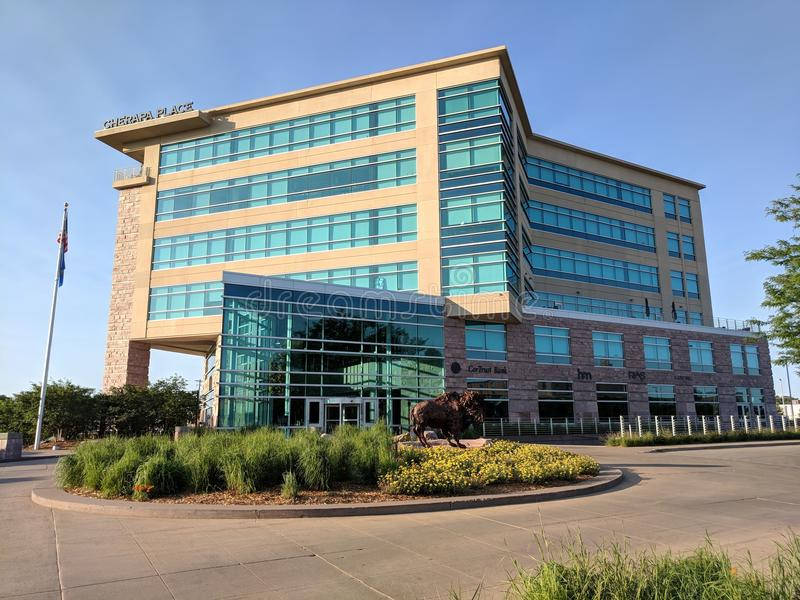 Cherapa Place. In downtown Sioux Falls, SD royalty free stock image