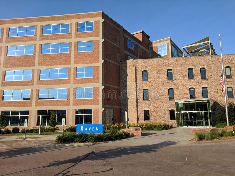 Raven Industries. Cherapa Place in downtown Sioux Falls, SD royalty free stock photography