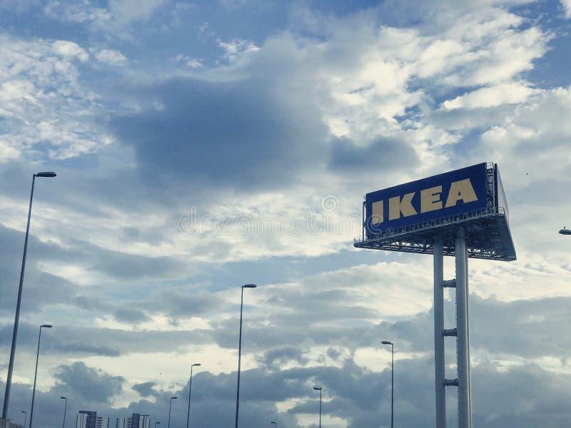 Cheras Kuala Lumpur da manhã do logotipo de Ikea fotos de stock royalty free