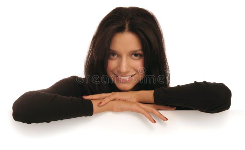 Chercher le sourire photo stock