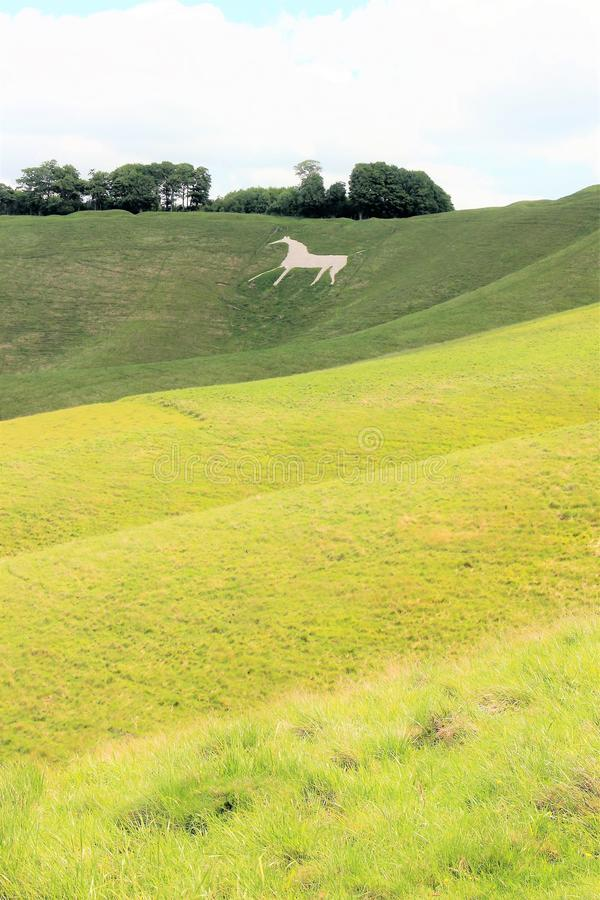 Cherhill white horse, Wiltshire England stock photography