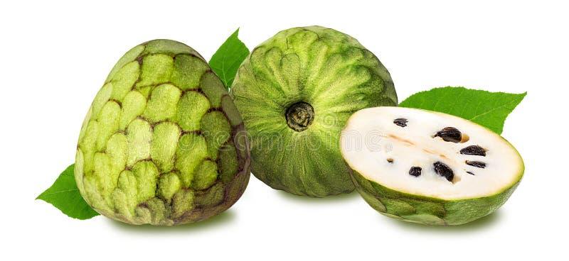 Cherimoya fruit on white. Background stock photo