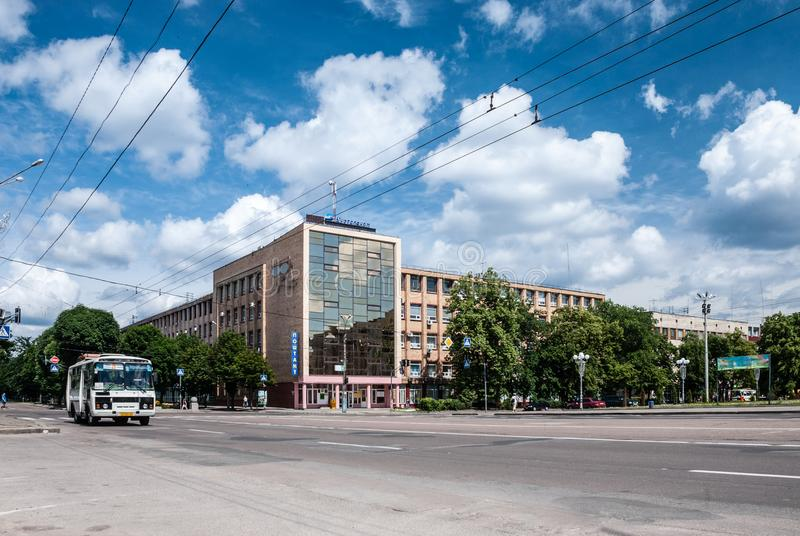 Cherkasy, de Oekraïne - Juni 02, 2013: Kathedraalvierkant royalty-vrije stock foto