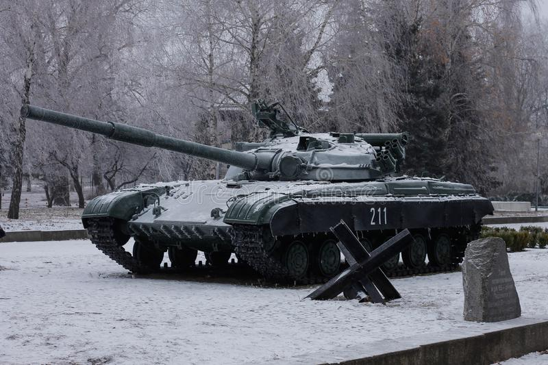 The T-64 is a Soviet second-generation main battle tank royalty free stock photography