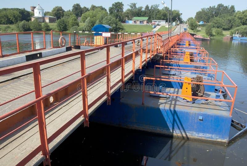 Cherkizovo river bridge stock photography