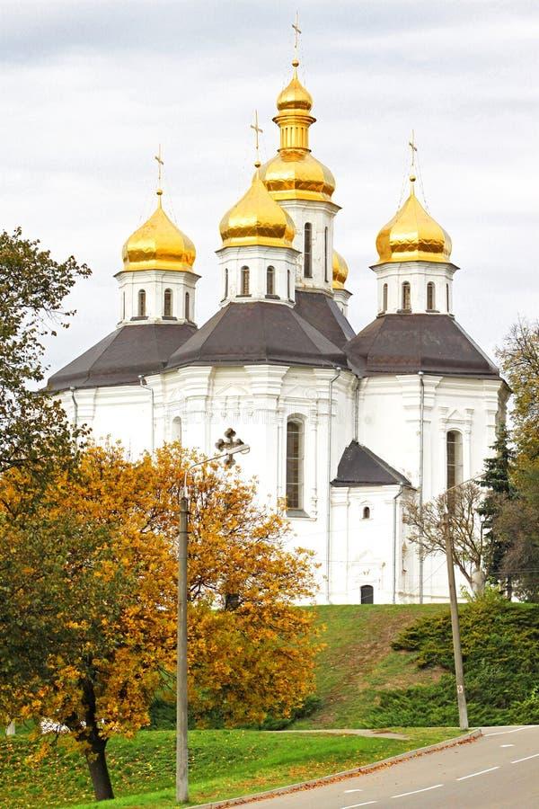 Chernigov的,乌克兰Ekateriniska教会 库存照片