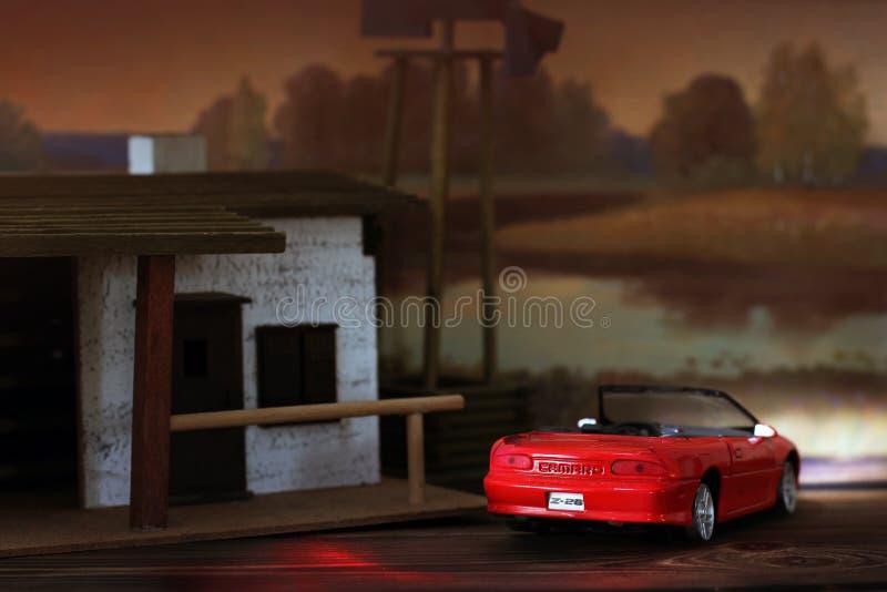 Chernigov Ukraina - Februari 2, 2019: Chevrolet Camaro En kopia av den verkliga bilen Lurar leksaker royaltyfria bilder