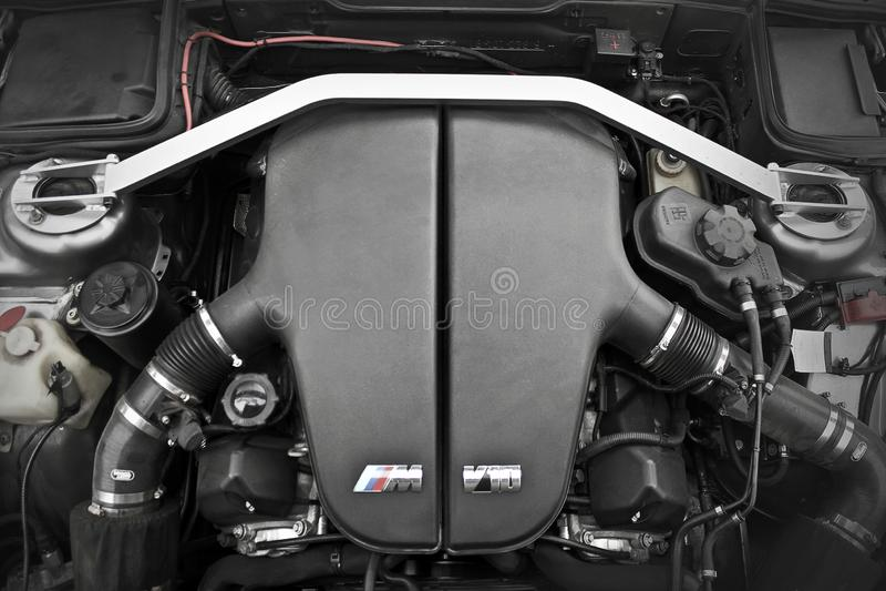 Chernigov, Ukraine - November 8, 2017. BMW M5 E34. German technology. BMW engine. BMW M5 E34. German technology. BMW engine royalty free stock image