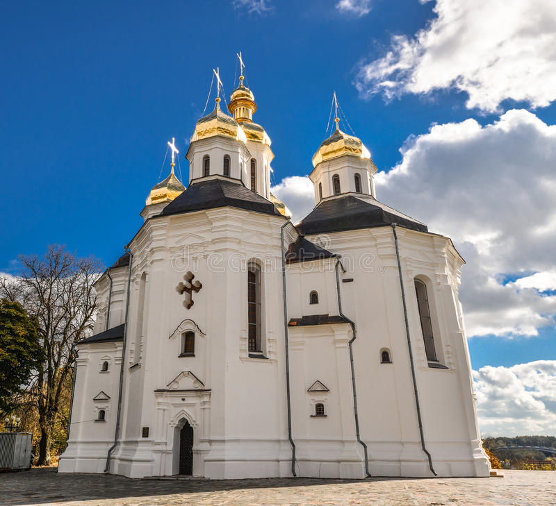 Chernihiv, Ukraine - October 19, 2016: St. Catherine`s Church, Chernihiv Ukraine Europe European cultural monuments. Early 18th century. Chernihiv is one of royalty free stock photos