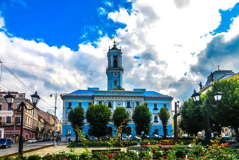 Chernivtsi główny plac 05 zdjęcie royalty free