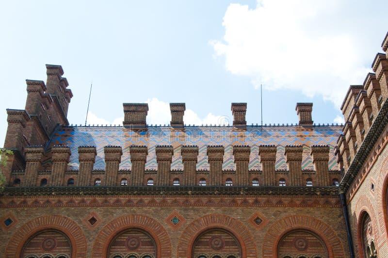 Chernivtsi nationaal universitair godsdienstig seminarie stock afbeelding