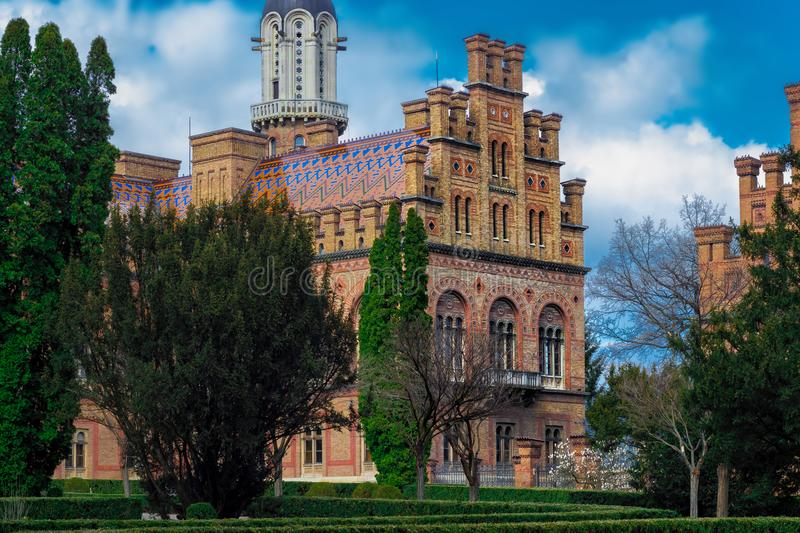 Chernivtsi National University. Chernivtsi, Ukraine royalty free stock photo