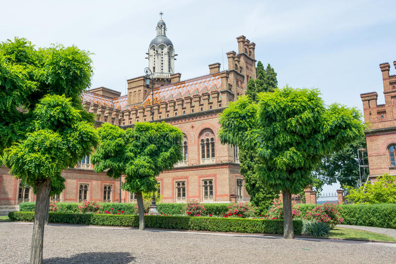 Chernivtsi National University, Residence of Bukovinian and Dalmatian Metropolitans. Chernivtsi, Ukraine royalty free stock image