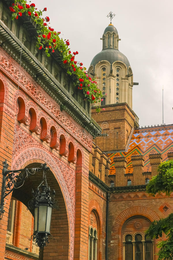 Chernivtsi National University, Residence of Bukovinian and Dalmatian. Metropolitans, Chernivtsi, Ukraine stock photo