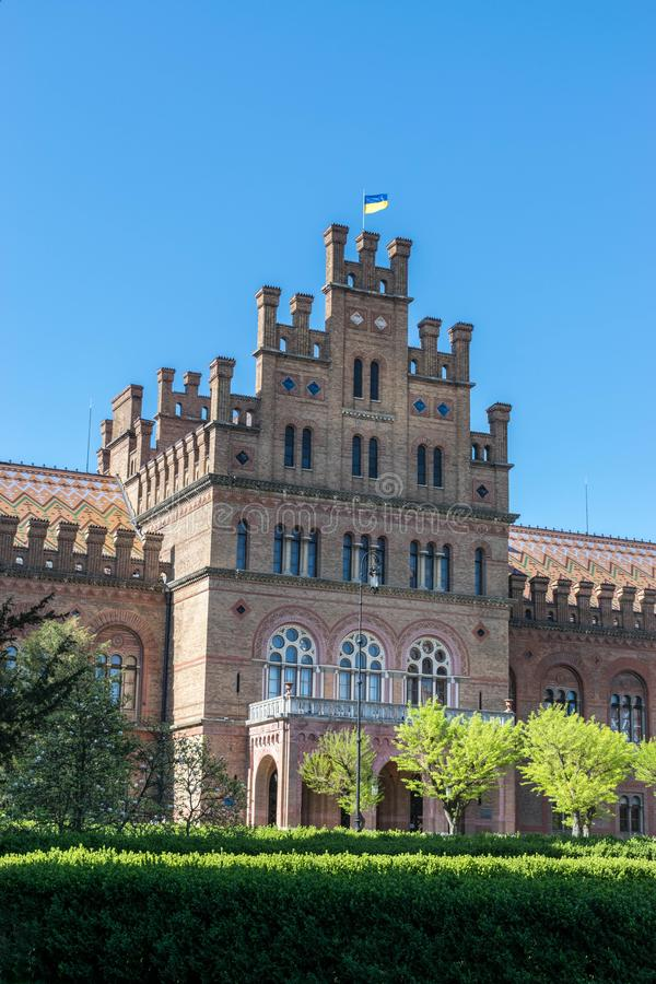 Chernivtsi National University in Ukraine. Main campus of Chernivtsi National University in Ukraine. The building was built in 1920-1922 in the spirit of stock images