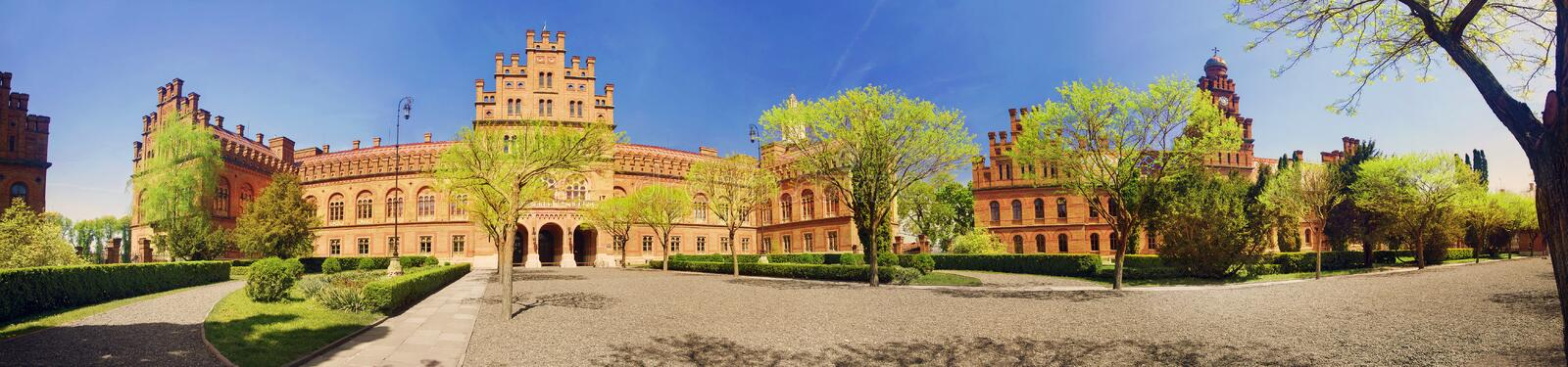 Chernivtsi National University. Yuriy Fedkovych  is the leading Ukrainian institution for higher education in northern Bukovina, in Chernivtsi, a city in royalty free stock photo