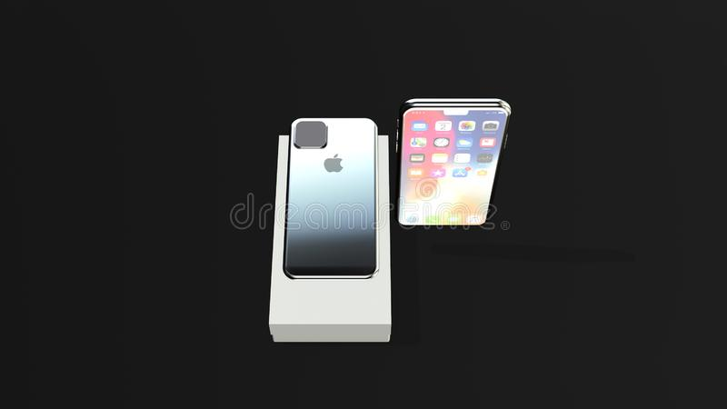 Apple Iphone 4 Back View Stock Illustrations 76 Apple