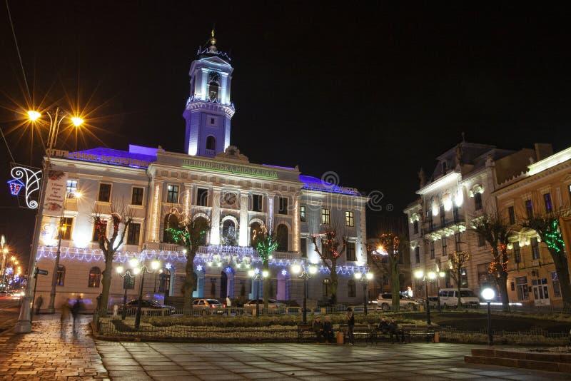 Chernivtsi urząd miasta, Ukraina, 2011 fotografia royalty free