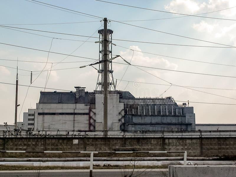 Chernobyl den kärn- kraftverket royaltyfri foto