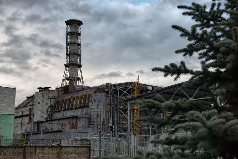 Chernobyl-Kernkraftwerk stockbild