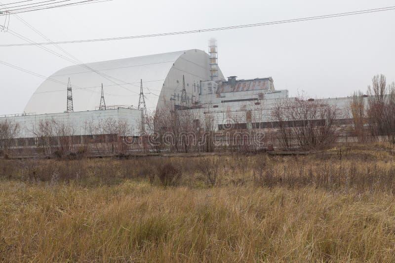Chernobyl, Ucrania bloque 4 de central nuclear de Chernóbil imágenes de archivo libres de regalías