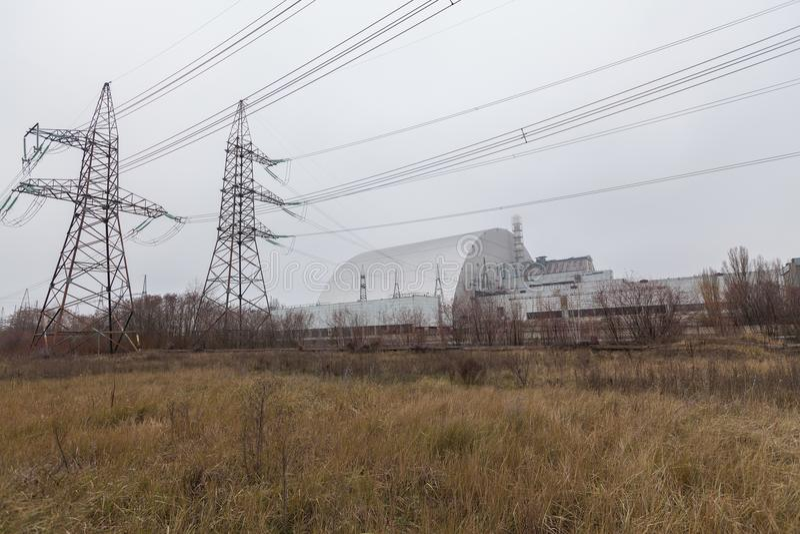 Chernobyl, Ucrania bloque 4 de central nuclear de Chernóbil imagenes de archivo