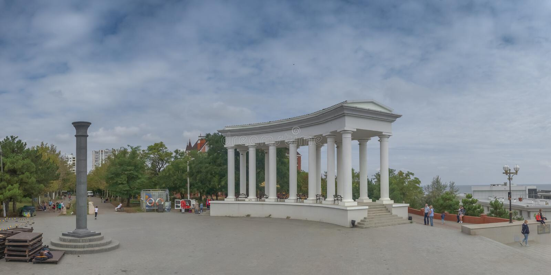 Chernomorsk-sity nahe Odessa, Ukraine stockfoto