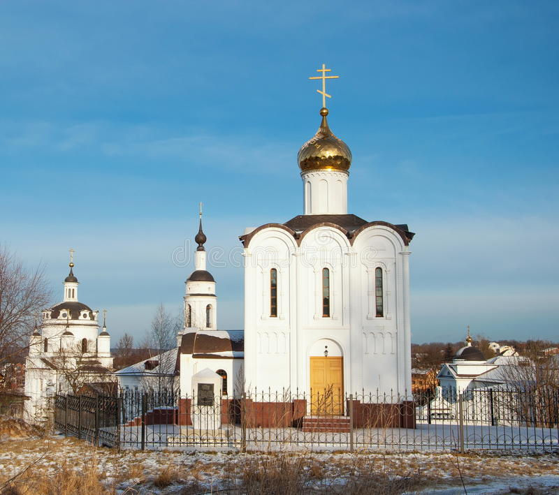 Chernoostrovsky-Kloster in Maloyaroslavets lizenzfreie stockbilder