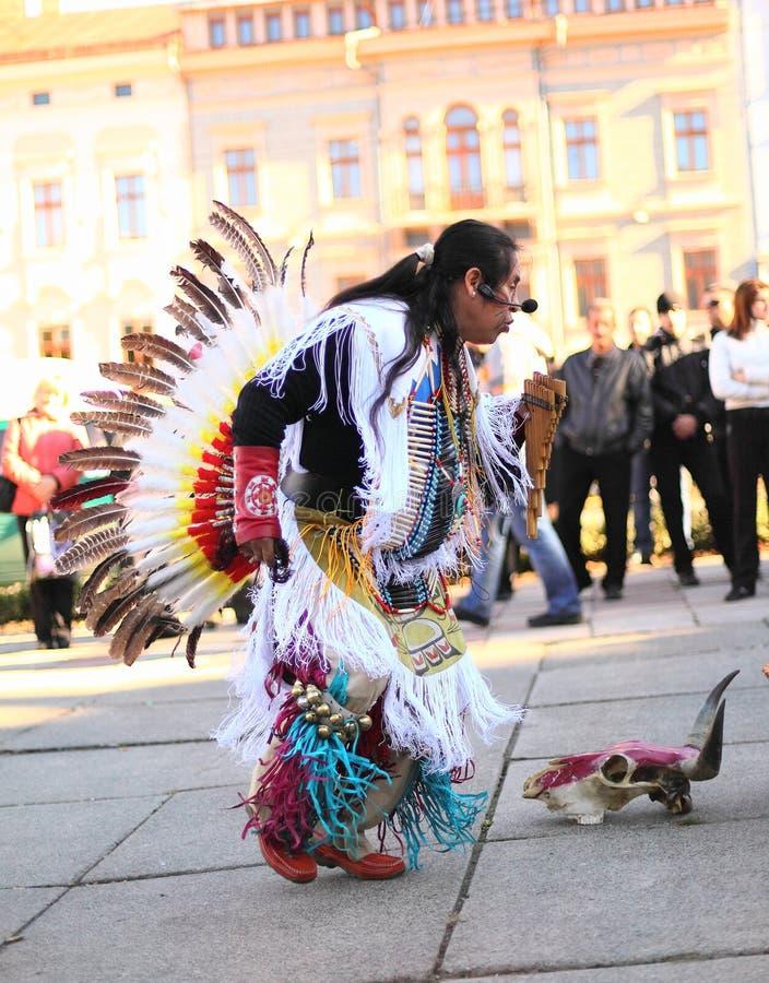 CHERNOVTSY, УКРАИНА, 22-ое октября 2010: Перуанский стоковые изображения rf