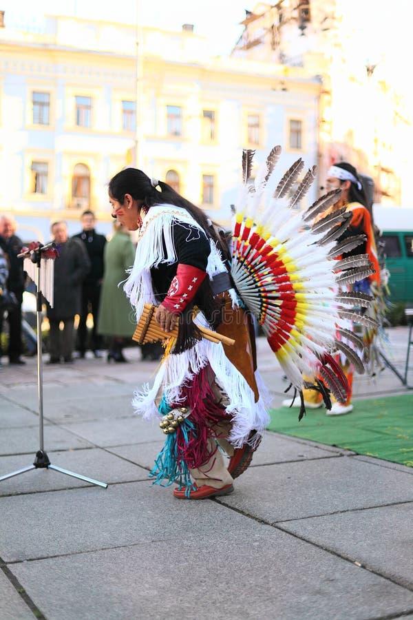 CHERNOVTSY, de OEKRAÏNE, 22 Oktober, 2010, Peruviaans royalty-vrije stock afbeeldingen